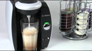 how to make a latte with tassimo t discs and milk frother. Black Bedroom Furniture Sets. Home Design Ideas
